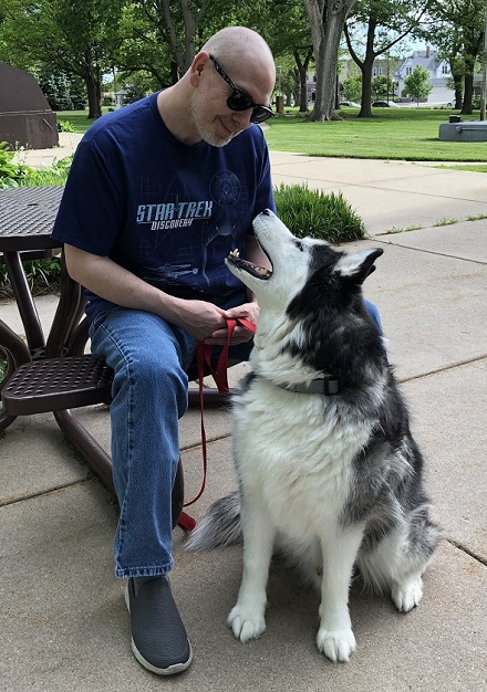 Me and my dog Mal